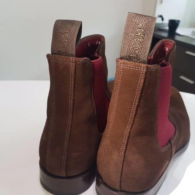 Design Loake shoes handmade hutchinson brown suade