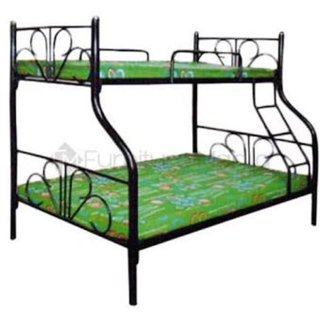 Double Deck Bed Frame, Home & Furniture on Carousell