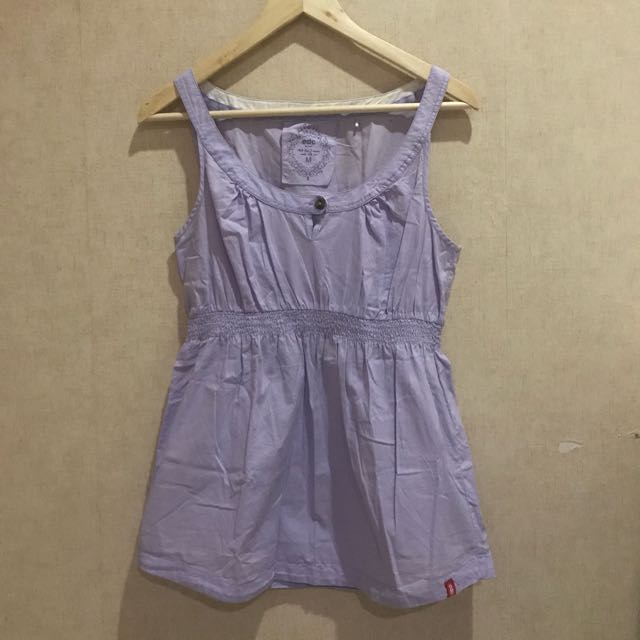 EDC Esprit Purple Babydoll Sleeveless Top