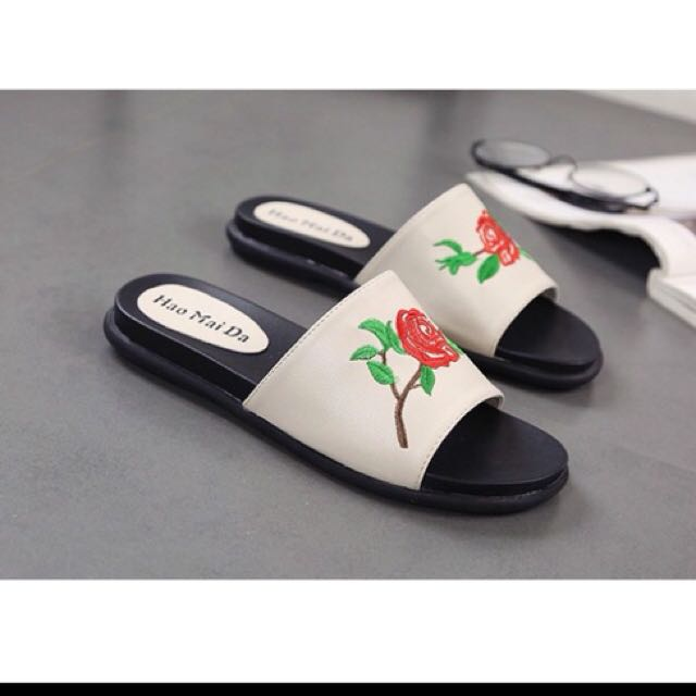Embroided Slippers