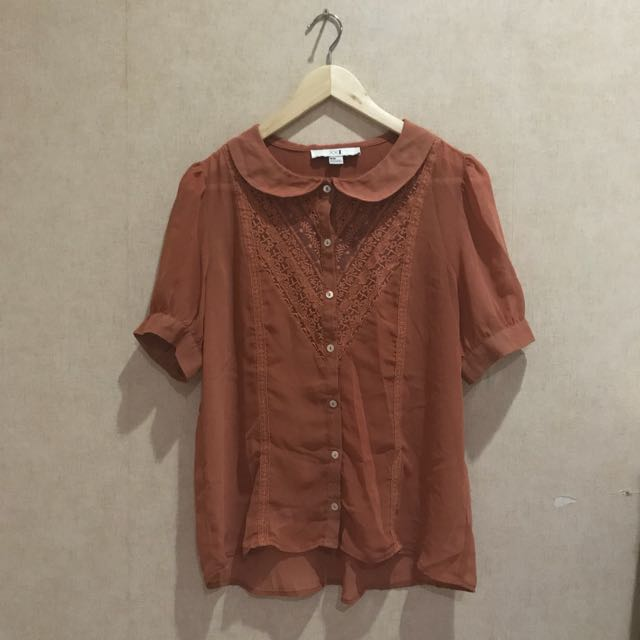 F21 Girly Brown Top