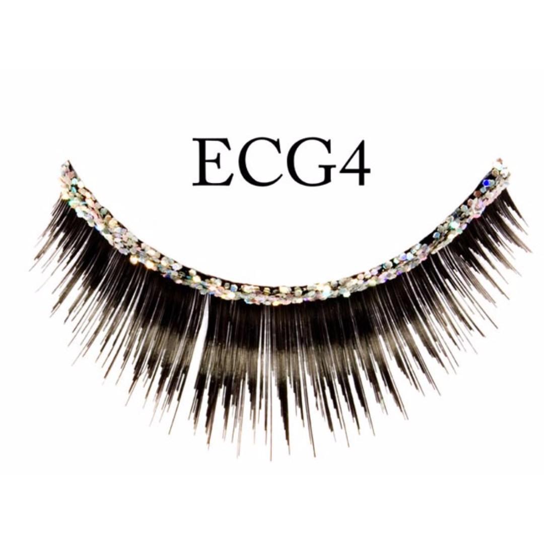 False Eyelashes Glitter Band Natural Glamourous Health Beauty