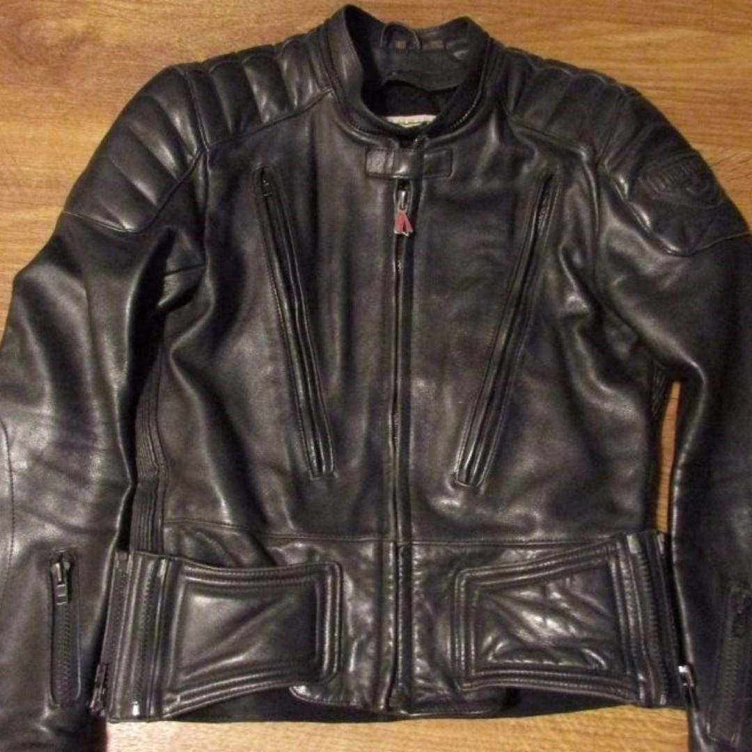 FirstGear Leather Motorcycle Biker Jacket 46