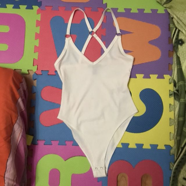 Forever 21 body suit ( white )