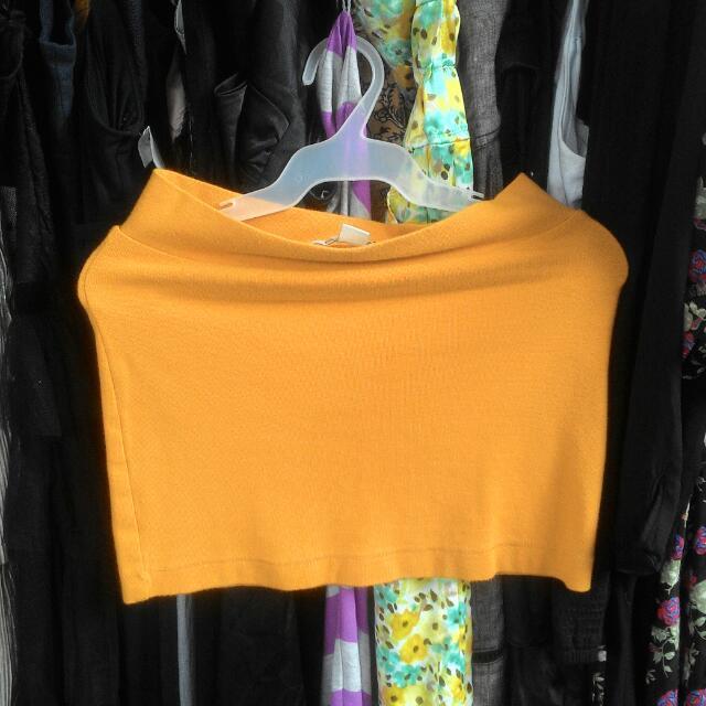 Forever 21 Mustard Bodycon Skirt