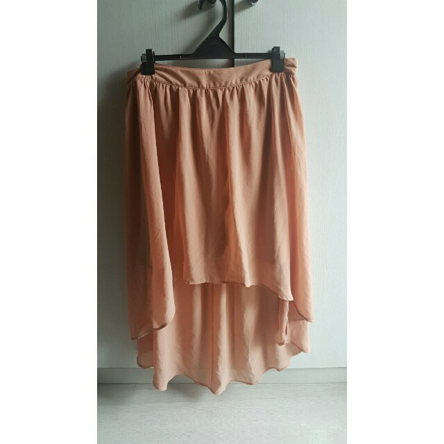 Forever 21 peach pink High Low skirt