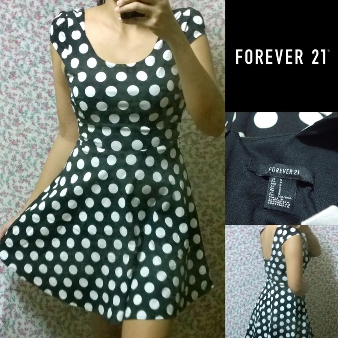 Forever 21 Polka Dot Skater Dress ad7f5a790