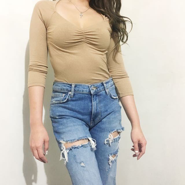 Forever 21 ribbed blouse
