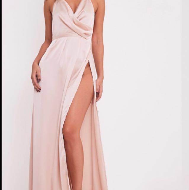 FORMAL Satin dress-pink for sale