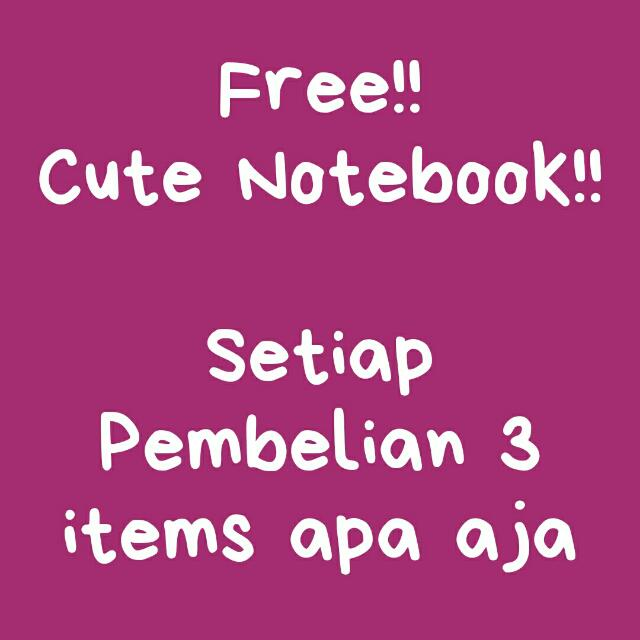 FREE NOTEBOOK !!!