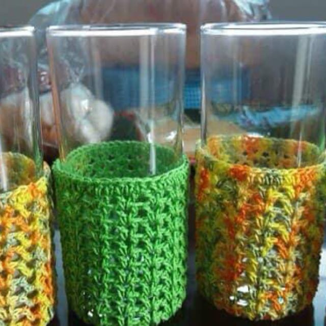 Glass Skirt / Glass Holder / Crochet