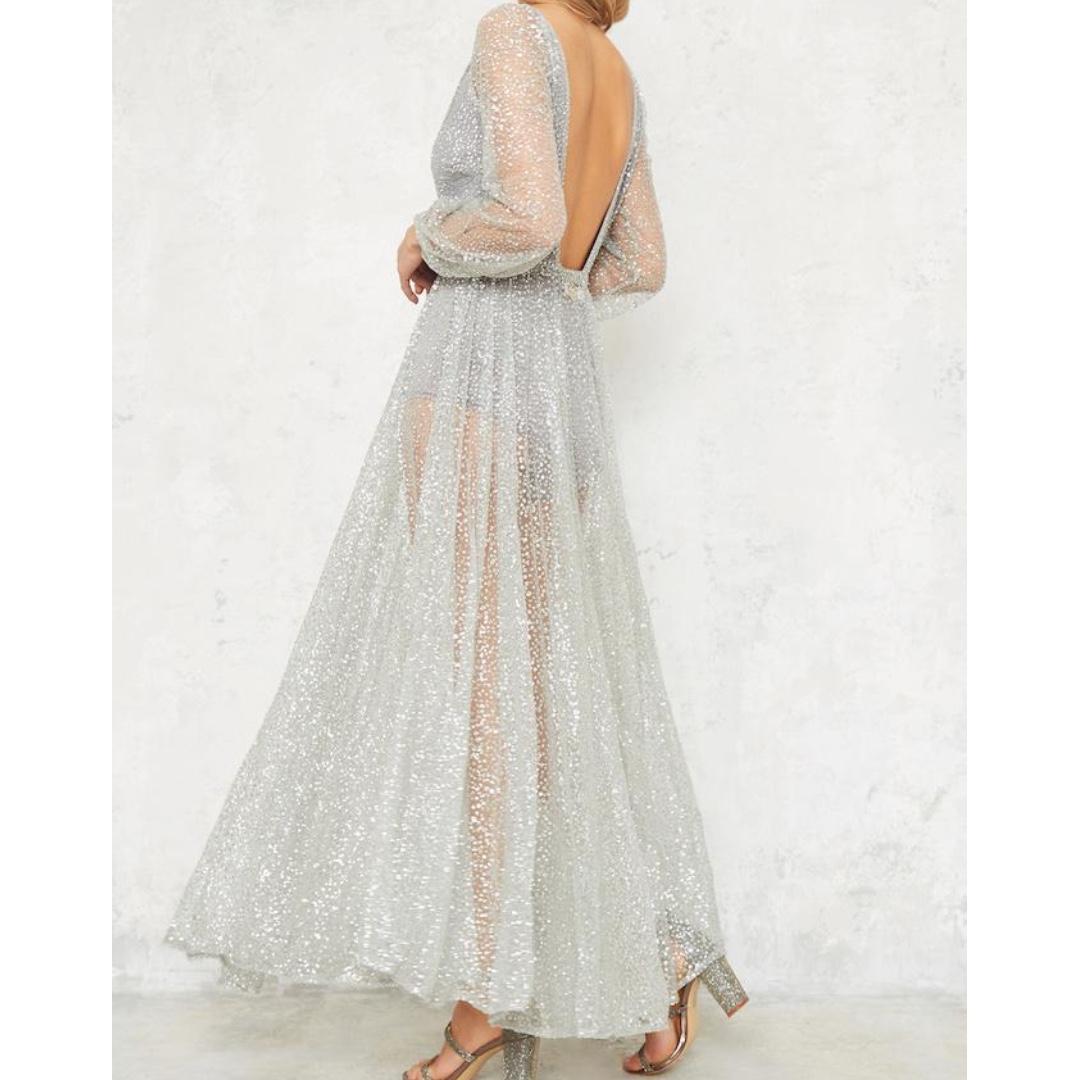 Glitz and Glamour Dress- silver