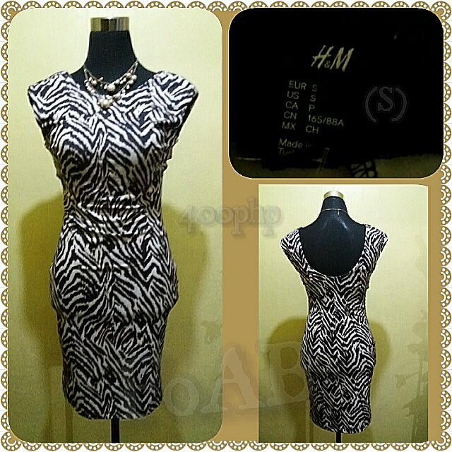 H&M Animal Print Bodycon Dress