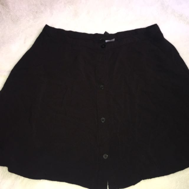 H&m Button Down Skirt