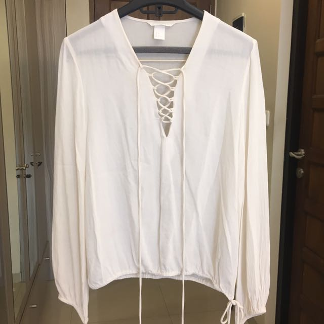 H&M Tied Blouse
