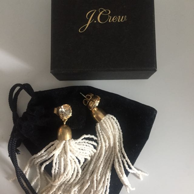 Jcrew beaded tassel earrings