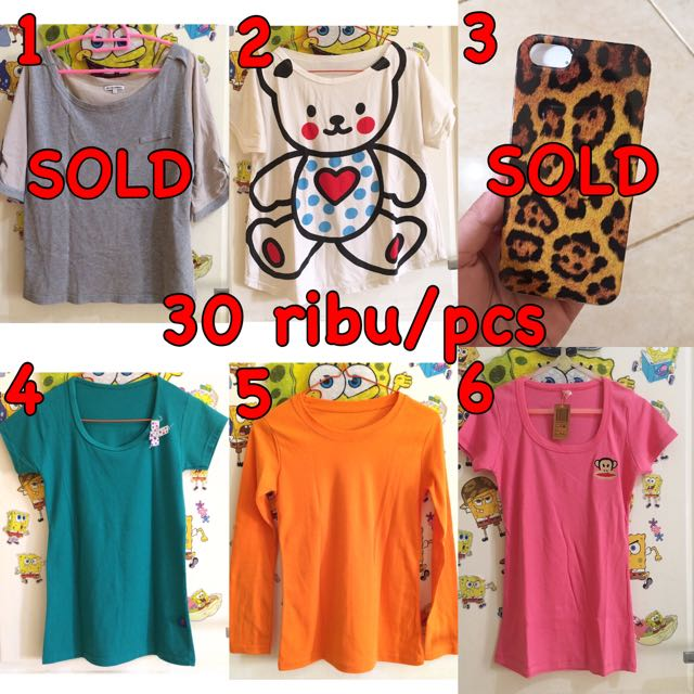 Kaos , Blouse , Atasan , Kemeja , Dress , Gaun , Celana Panjang , Longdress , Baju , Overal , Mini Dress