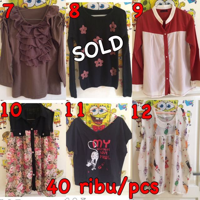 Kaos , Blouse , Kemeja , Atasan , Kaftan , Longdress , Gaun , Dress , Mini Dress , Celana Panjang , Overal , Baju , Midi Dress