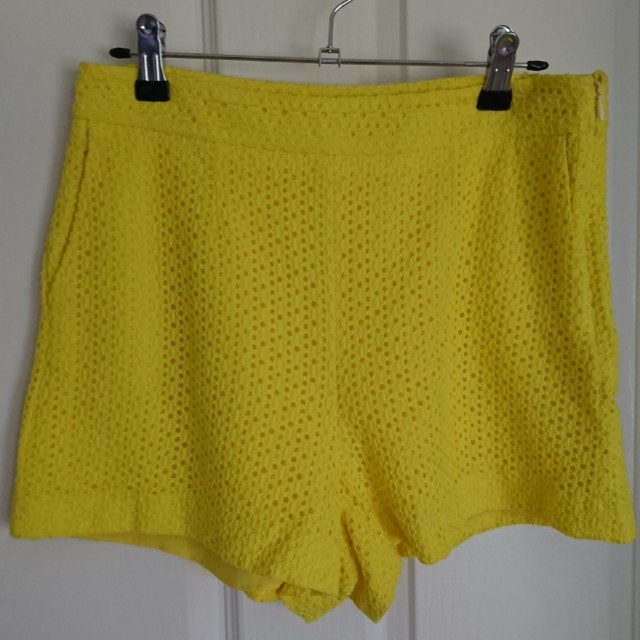 Kookai Yellow Shorts