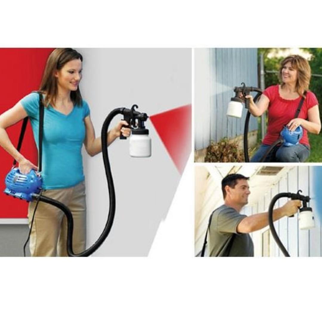 Lightweight Air-Pressure Paint Gun with Adjustable Spray Jet Settings