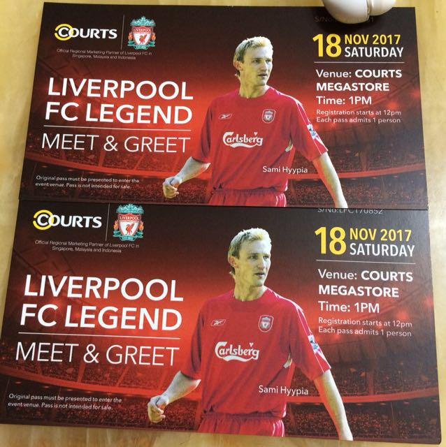 Liverpool meet and greet entertainment events concerts on carousell m4hsunfo