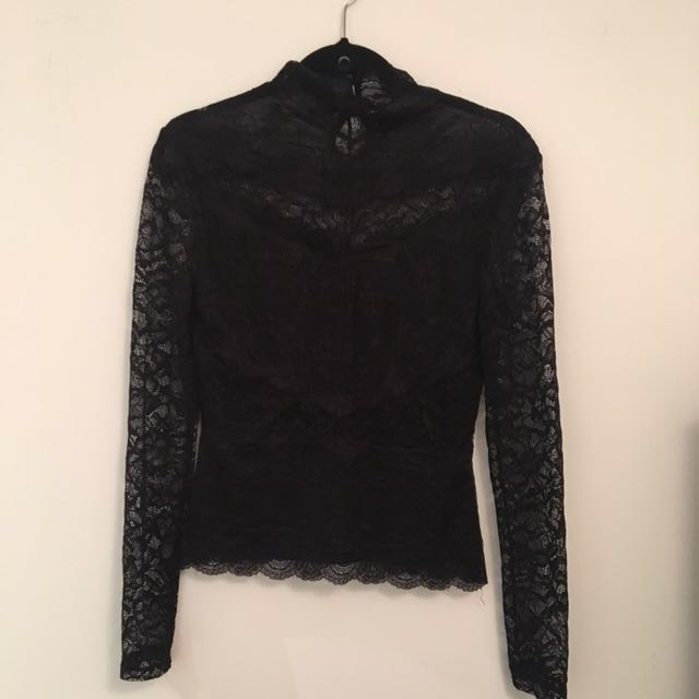 Long sleeve lace turtleneck