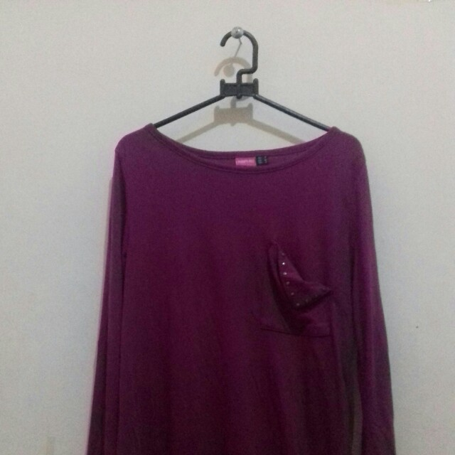 Loose Shirt With Stude Pocket Detail