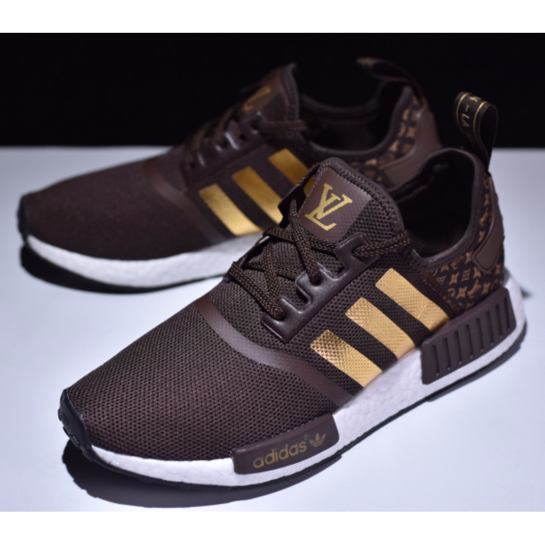 3340b599bb5 Louis Vuitton x Adidas NMD R_1 Boost EU40-45, Men's Fashion ...