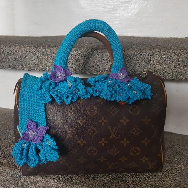SUMMER SALE! Crocheted bag handle cover LV Speedy