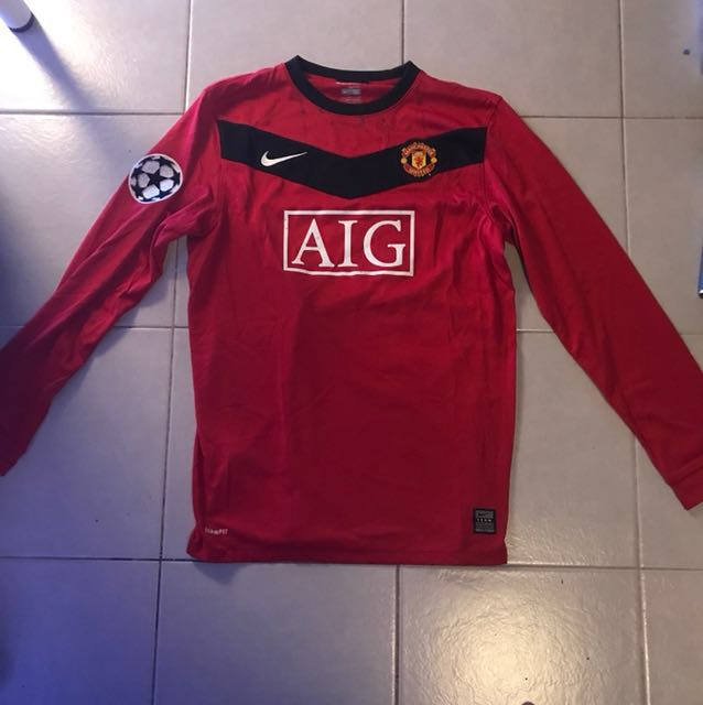 23c0f4162 Manchester United Long Sleeve Jersey (Rooney 10), Sports, Sports ...