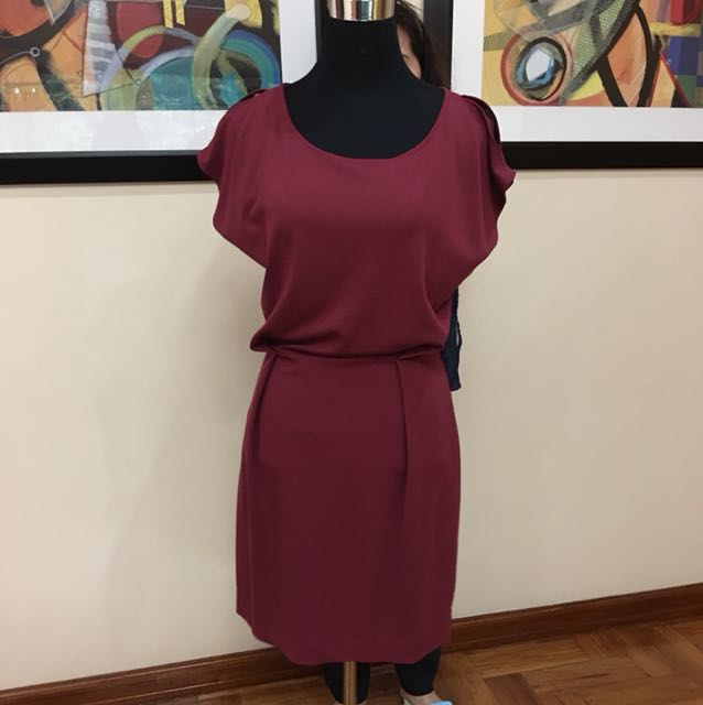 Mango maroon dress