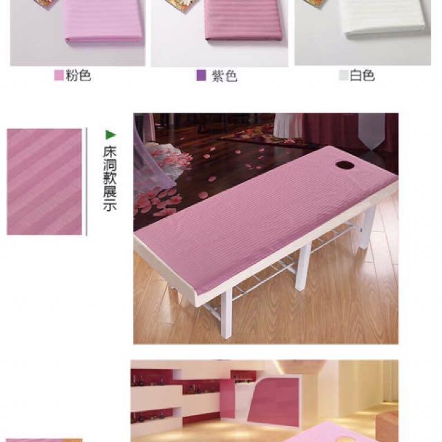 Massage Bed Sheets ~ 100% Cotton, Health U0026 Beauty, Bath U0026 Body On Carousell