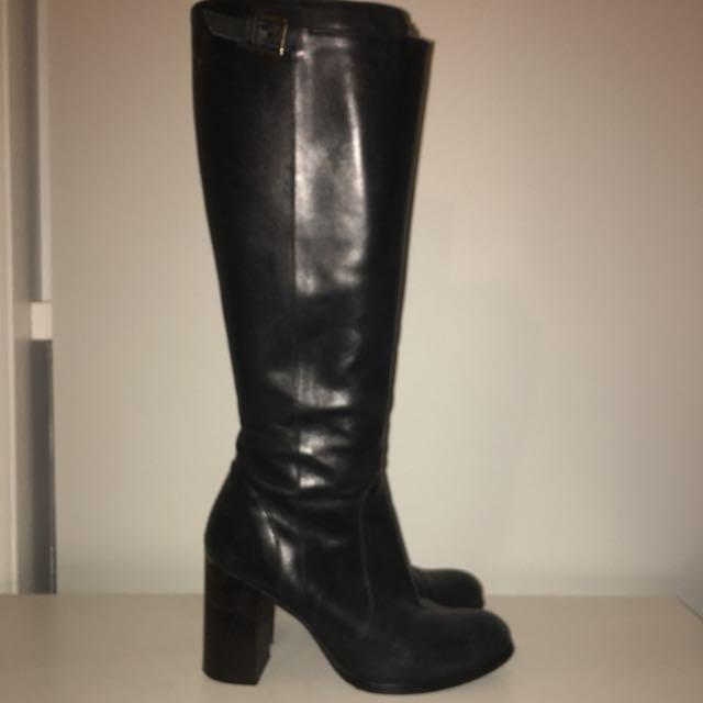 Merchant black high boots