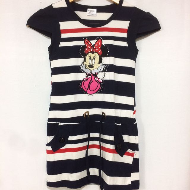 Minnie Mouse Striped Shirt Dress