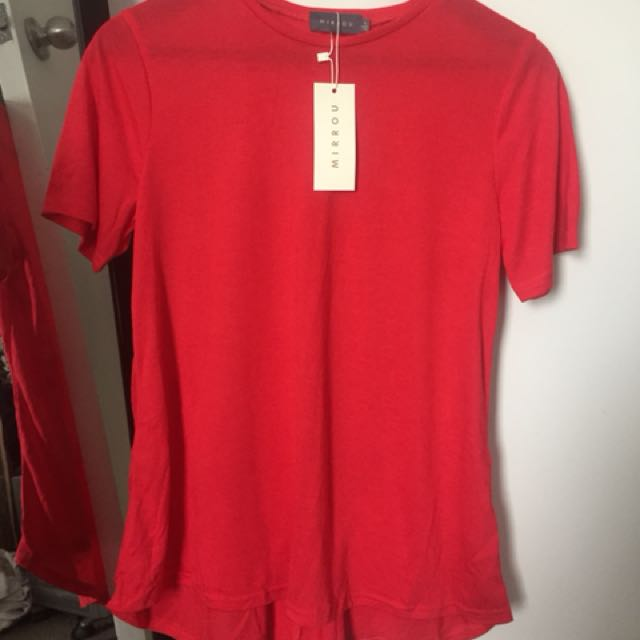 Mirrou - Red Baggy T- shirt