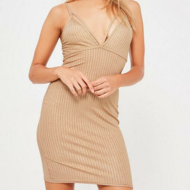 Missguided Gold Bodycon