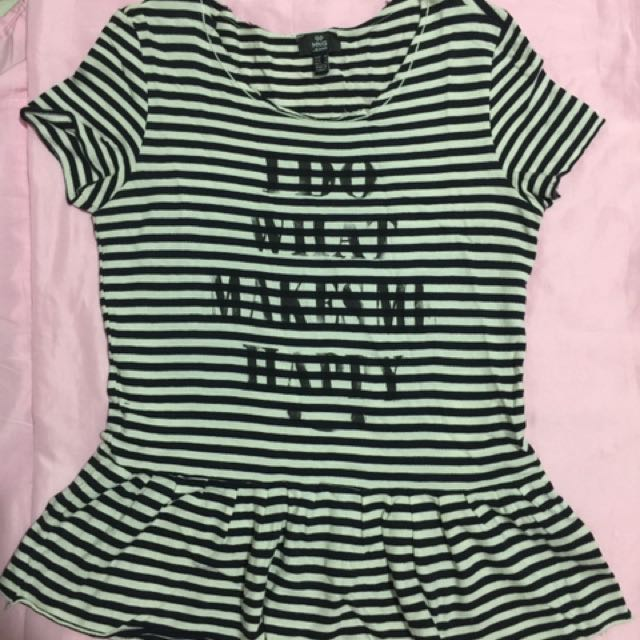 MNG Jeans striped tee