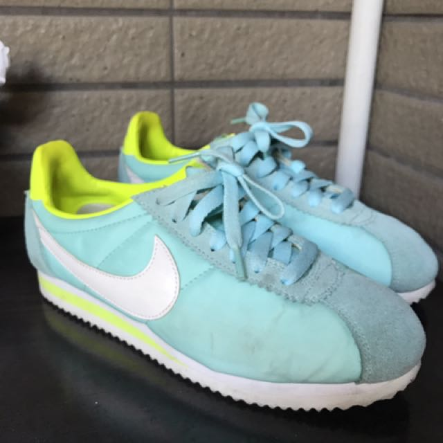 Nike 阿甘鞋 湖藍綠色 23.5