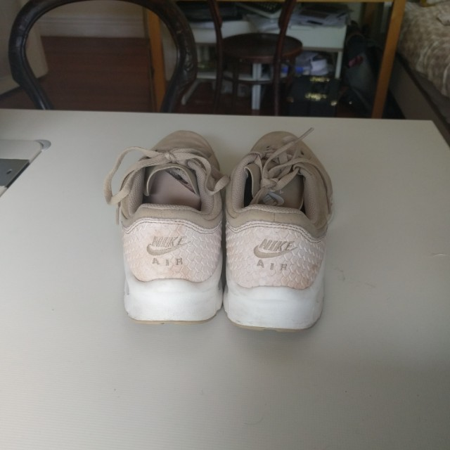Nike air suede tan with snake skin size US 8
