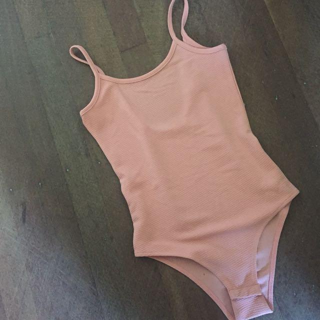 Nude pink tempt bodysuit size S
