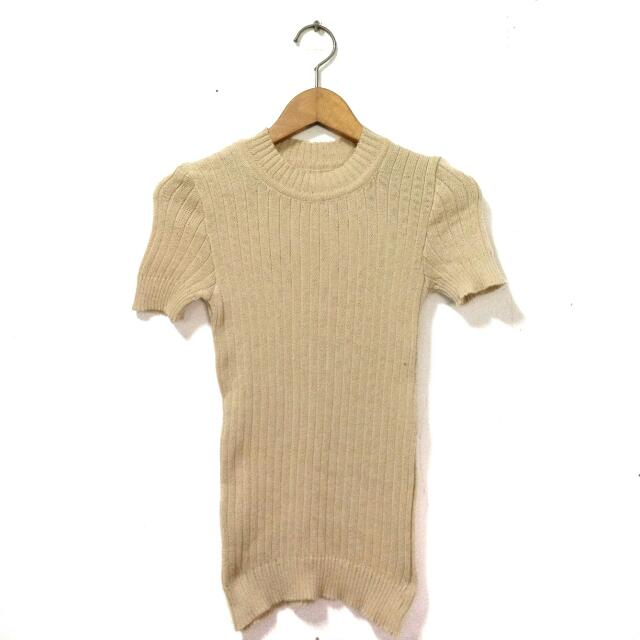 Nude Stretchable Top