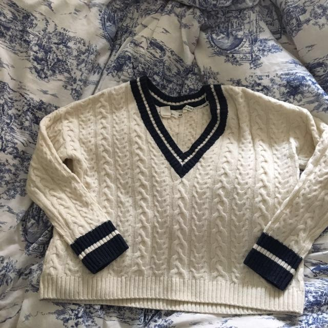 NWOT H&M oversized wool varsity sweater