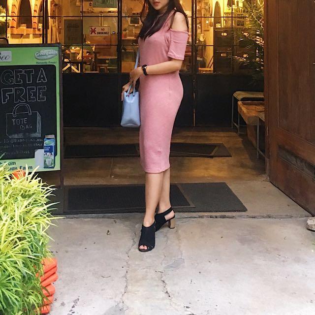 off shoulders Dress Pink