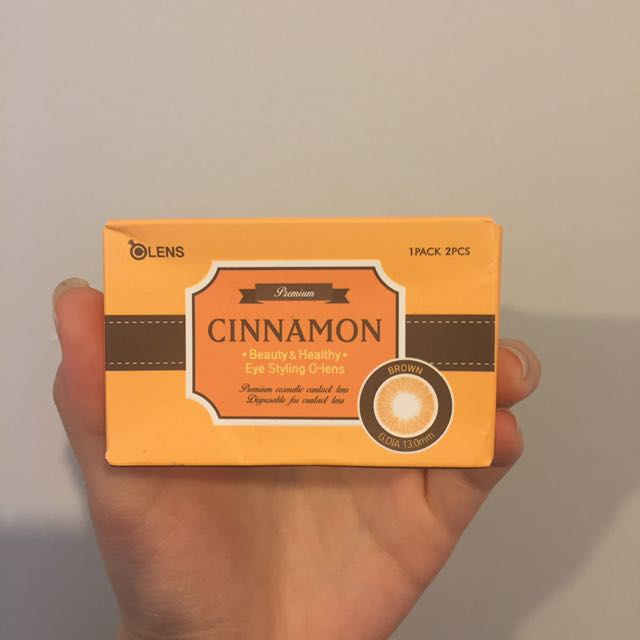 olens cinnamon brown contact lenses