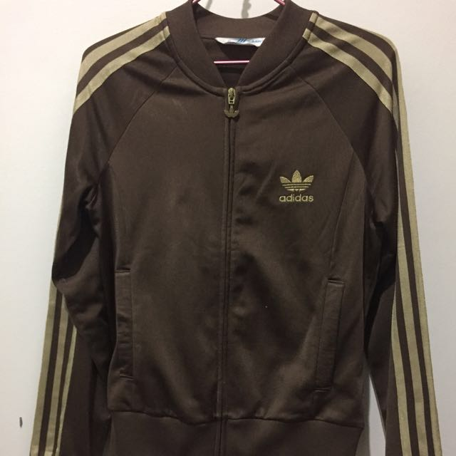 Original Adidas Jacket Gold Strip