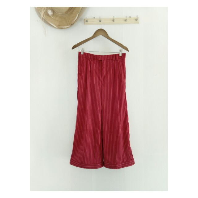 Palazzo stripes red