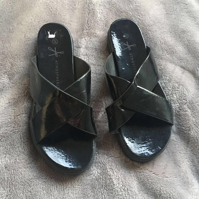 Patent Black Sliders