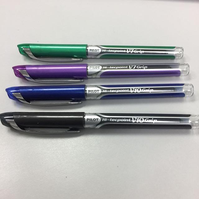 Pilot Hi-Tecpoint Pens V7 and V10