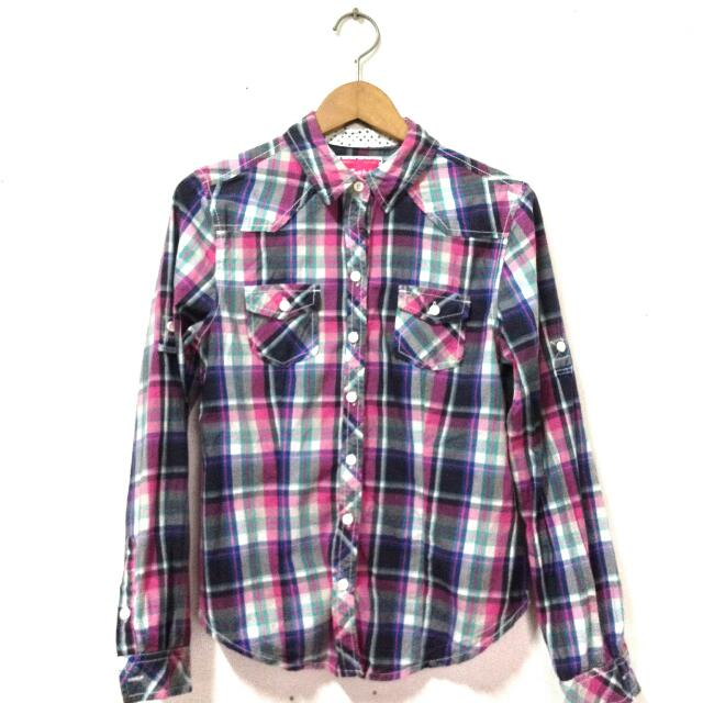 Pink Checkered Long Sleeves