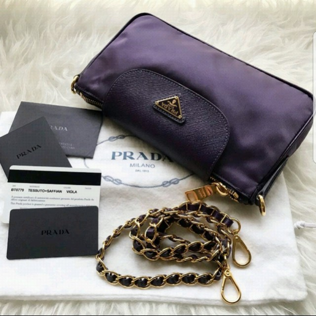 18c0521aba81 ... switzerland bn authentic prada nylon tessuto saffiano clutch bt0779  luxury bags wallets on carousell 7d424 2444b